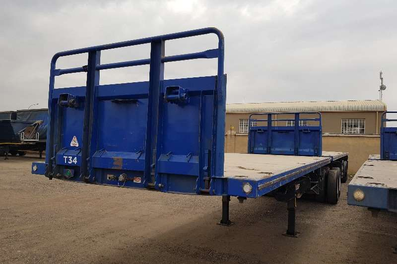 Trailord Trailers Flat deck 5 x Flatdeck Superlink, Container, Pockets 2005