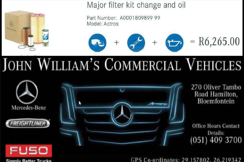 Truck accessories MB Actros Major Filter Kit & Oil 2019