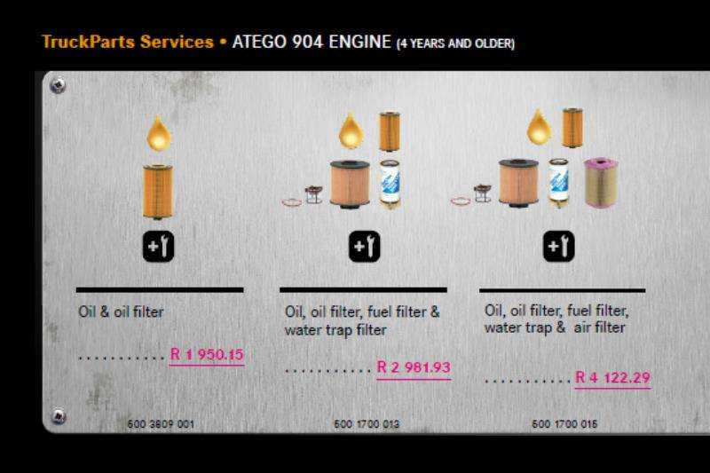 Truck accessories MB Atego 904 Engine Service Package