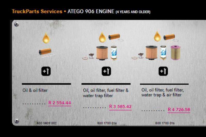 Truck accessories MB Atego 906 Engine  Service Package