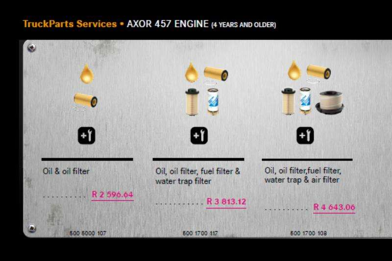 Truck accessories MB Axor 457 Engine Service Package