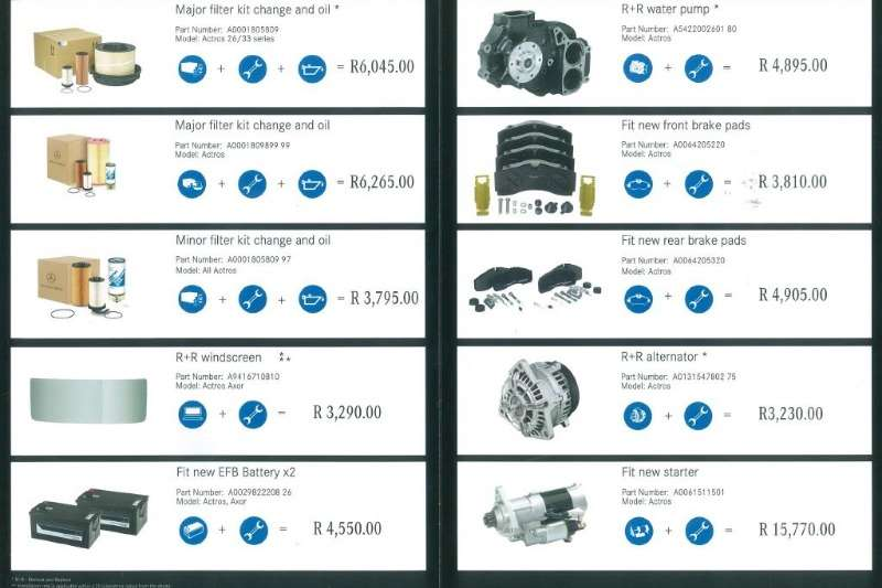 Truck accessories Various parts and service kits available 2019