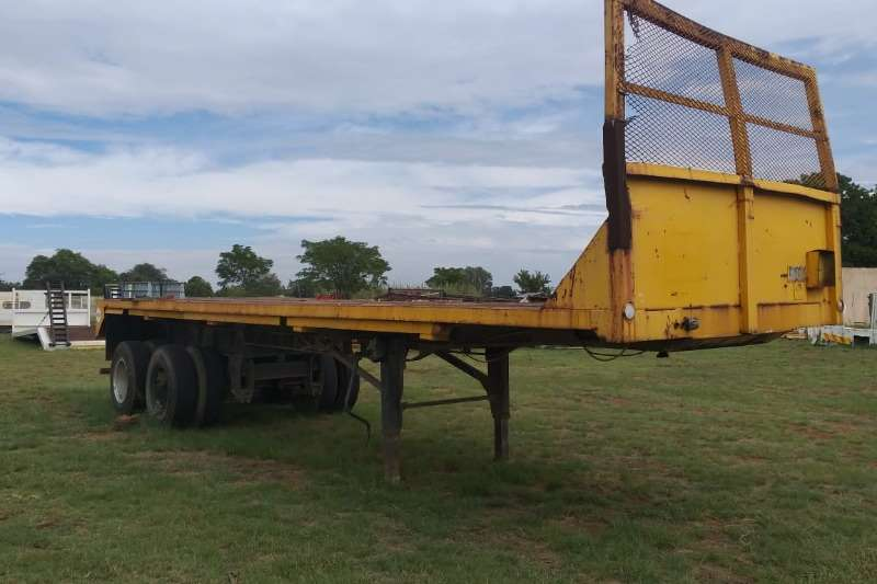 Two axle Double Axle Flatdeck Trailer