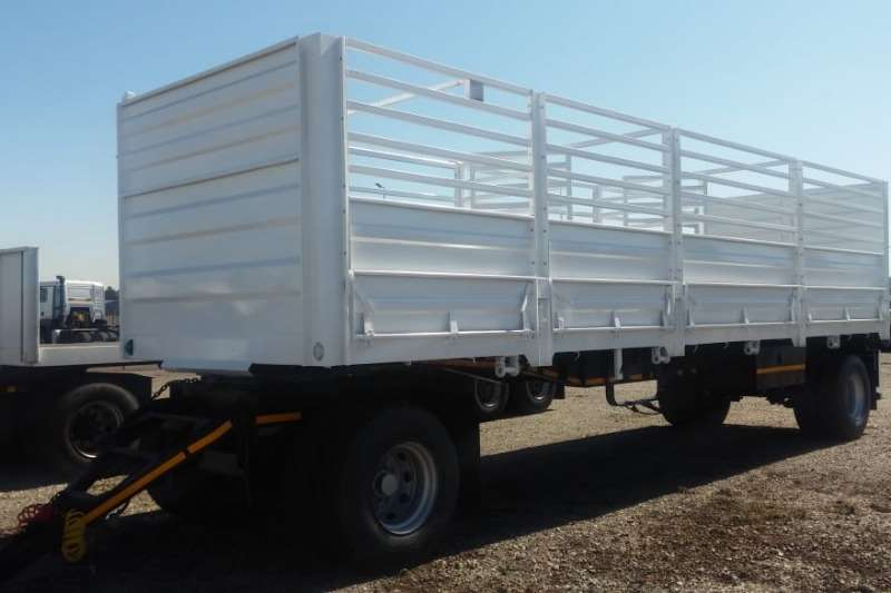 UBT Trailers Drawbar 2 Axle Drawbar Trailer with Cattle Sides 2017