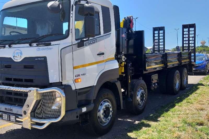 UD Crane trucks New UD Quester 420 8x4 AMT with Flatdeck and Crane 2020