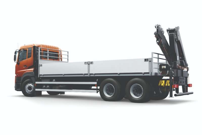 UD Dropside trucks New UD Quester Dropside with Crane 2020