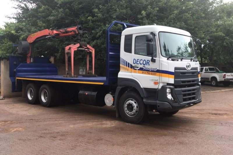 UD Truck Crane truck New UD Quester flatdeck with crane 6x4 2019