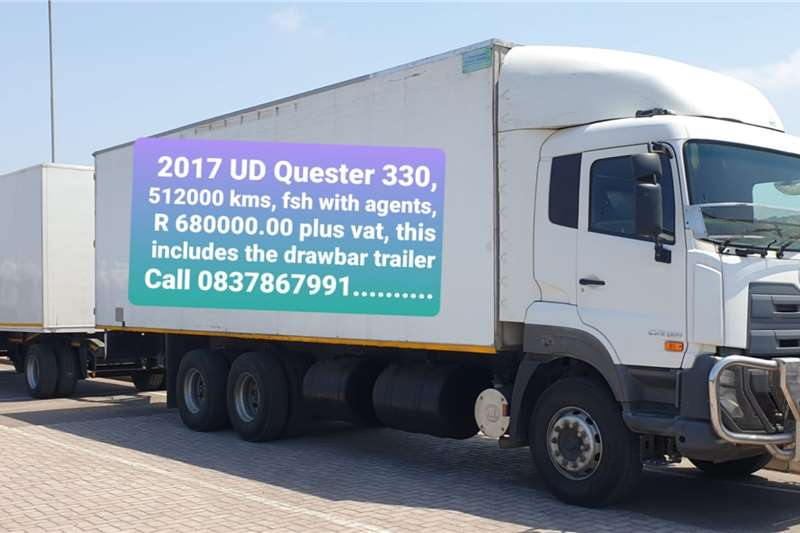 UD UD Quester 330 6x4 with Body + Pantech Draw Bar Tr Truck