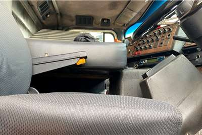 Volvo 9800i Rigid Flatdeck Body with A Drawbar Trailer Truck