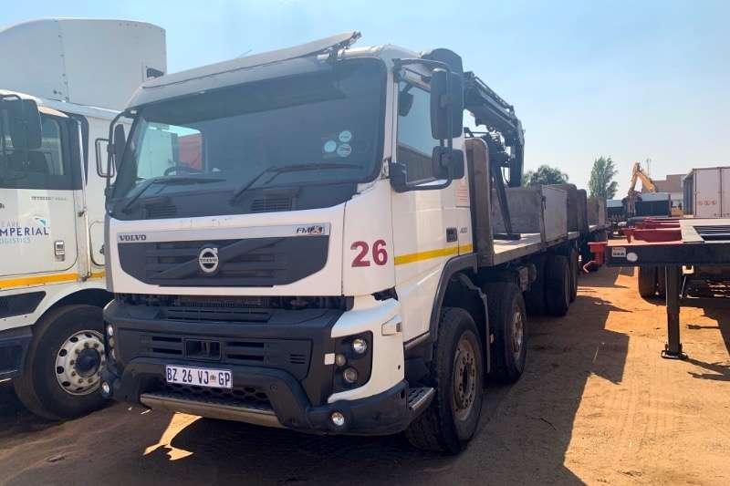Volvo Truck Crane truck FMX400 WITH BRICK CRANE & TRI AXLE D/BAR TRAILER 2012