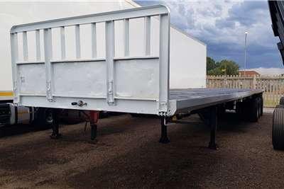Zelna Flat deck 13.5m Triaxle, Container Locks, Pockets Trailers